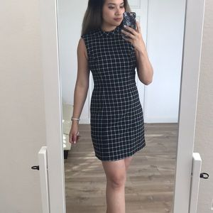 H&M windowpane dress